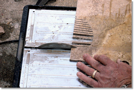 Cutting Tile with a Saw