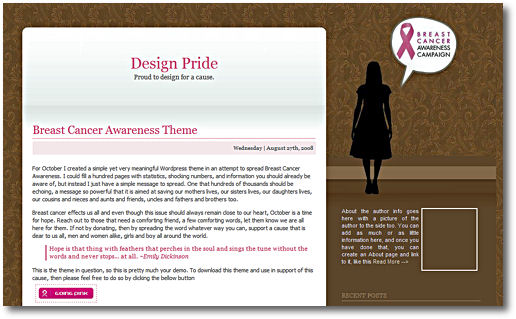 Breast Cancer Awareness WP Theme