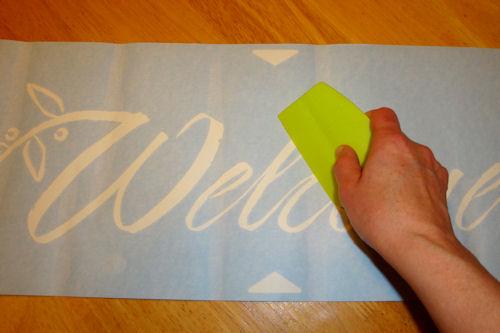 Apply Vinyl Lettering - Rub