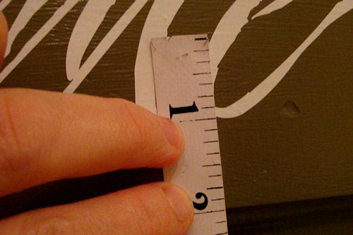 Apply Vinyl Lettering - Measuring