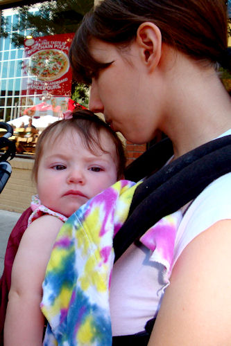 Babywearing - Princess with Peanut in Ergo