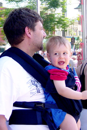 Babywearing - Z-Man and Teacher