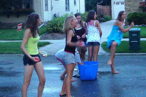 Block Party Water Balloon Fight