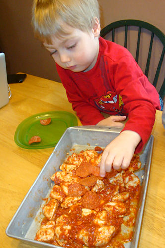 Bubble Up Pizza Recipe - Little Guy Adds Pepperoni