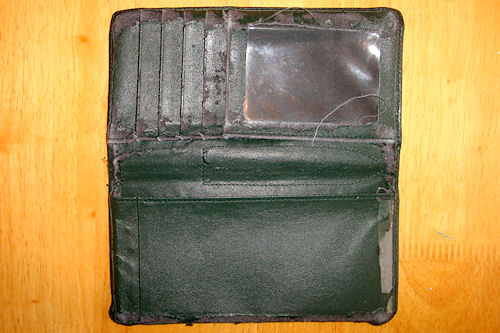 Checkbook Cover - Old and Threadbare