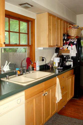Kitchen - Sink and Refrigerator