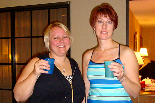 WECA Early Childhood Conference 2010 - Us with Drinks