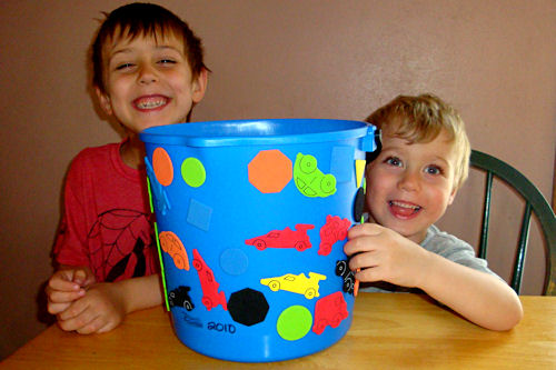 Easy Father's Day Craft - Finished Bucket