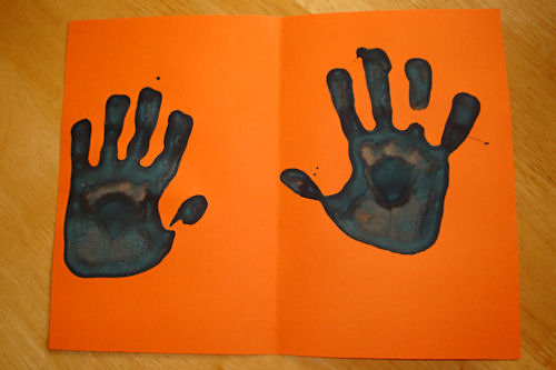 Easy Father's Day Card - Hand Prints