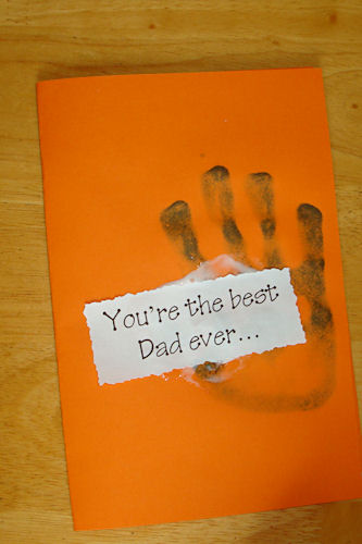 Easy Father's Day Craft - Card Front