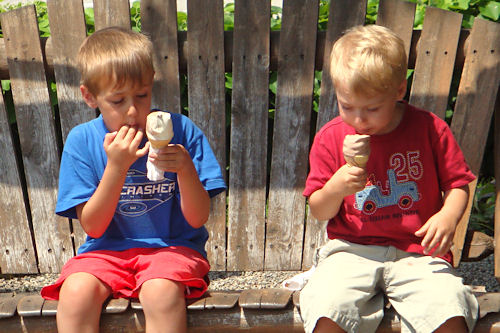 Boys with Ice Cream