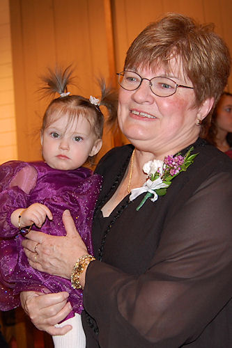 Flower Girl Peanut with Grandma