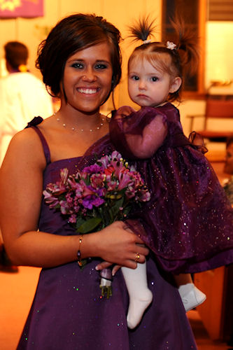 Flower Girl Peanut After the Service