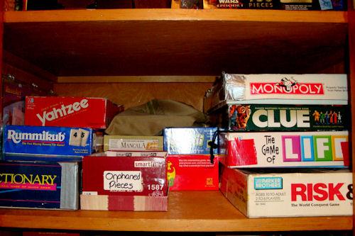 Organize - Game Closet After - Second Shelf