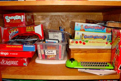 Organize - Game Closet After - Third Shelf