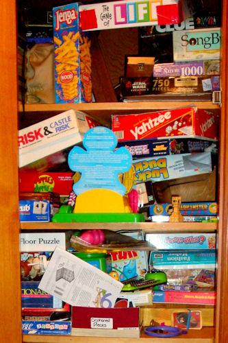 Organize - Game Closet Before