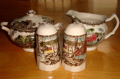 Sugar Bowl, Cream Pitcher, Salt & Pepper Shakers