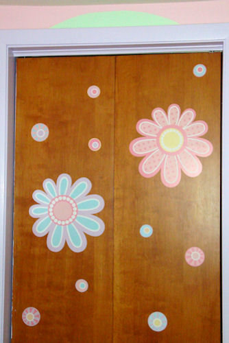 Flowers on Closet Door