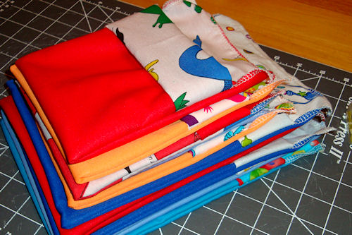 Make Reusable Snack Bags - Stack of Bags