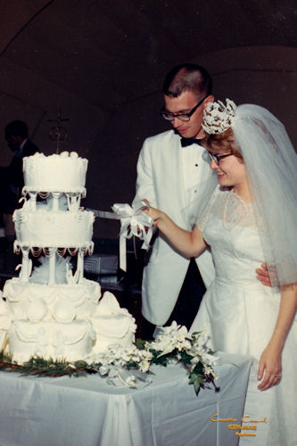 Mom and Dad's Wedding - Cutting the Cake