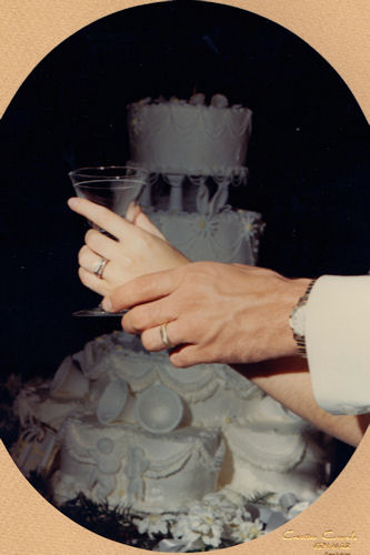Mom and Dad's Wedding - Rings by Cake