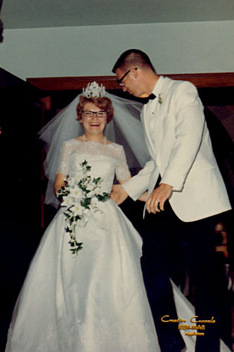 Mom and Dad's Wedding - Turning Toward Each Other