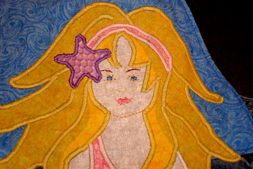 Mermaid Appliqué - Mermaid Face Detail