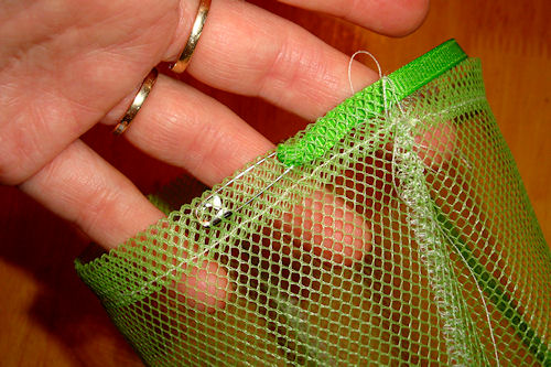 Make Mesh Produce Bags - Safety Pin