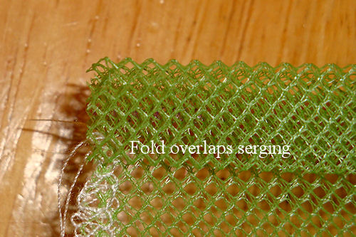 Make Mesh Produce Bags - Top Casing