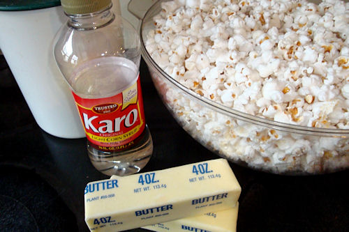 Microwave Caramel Corn Recipe - Ingredients