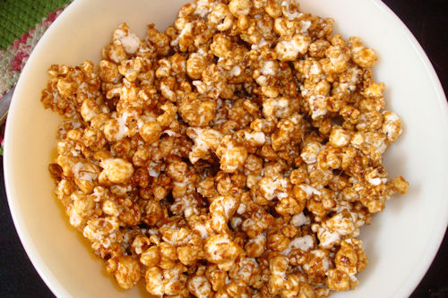 Microwave Caramel Corn Recipe - Coated!