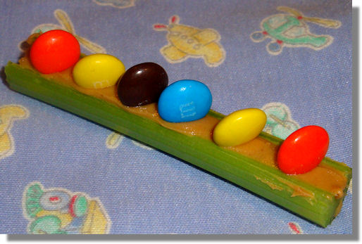 M&Ms on a Log