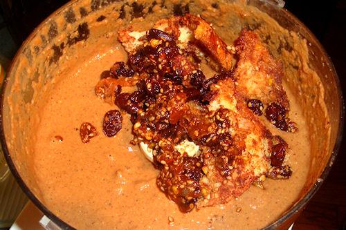 Mexican Mole Sauce - Blending