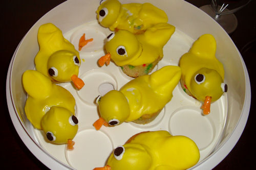 Rubber Duck Cupcakes - Starting to Melt