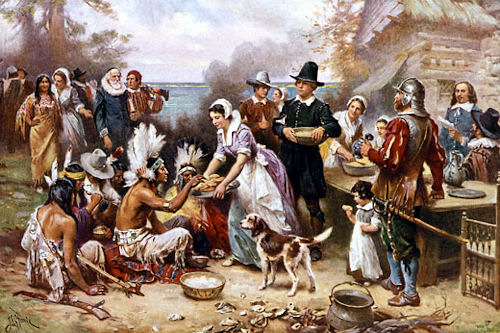 Native Americans - First Thanksgiving Picture