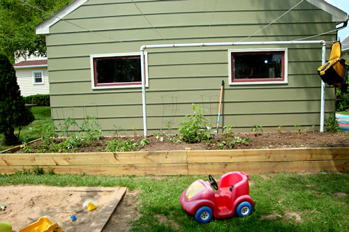 Raised Garden - Lengthwise View