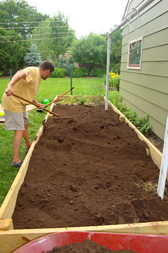Raised Garden - Teacher Spreads Dirt