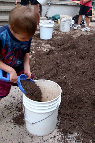 Raised Garden - Z-Man Digging
