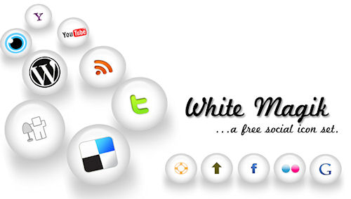 Social Media Icons - White Magic