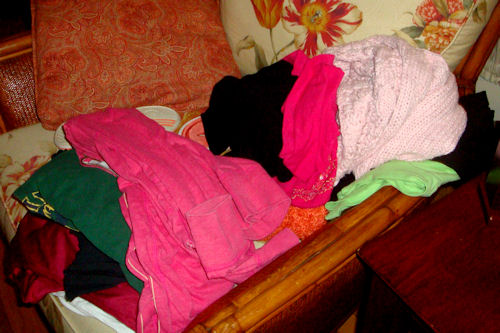 Clothes Swap - Pile of Shirts