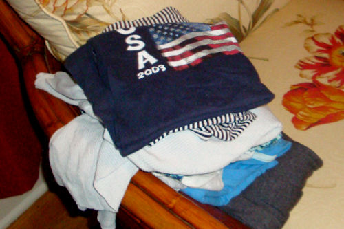 Clothes Swap - Smaller Pile of Clothes