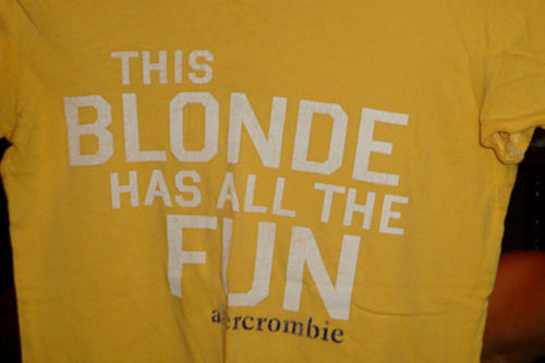 Clothes Swap - This Blonde has All the Fun Shirt