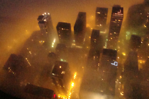 Chicago - Buildings Through Fog