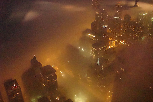 Chicago - Buildings Through Fog Again