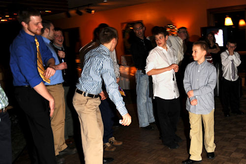 Wedding Reception - Catching the Garter
