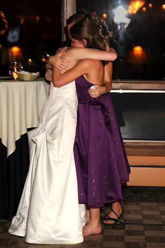 Wedding Reception - Girls Hugging