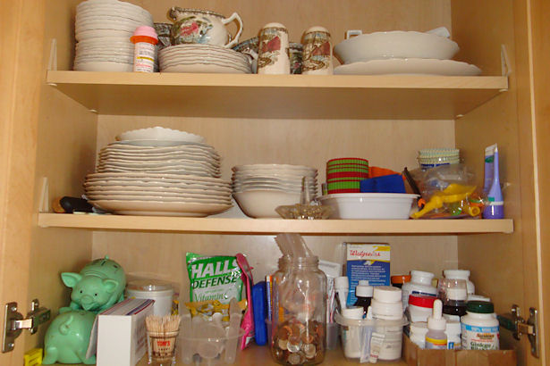 Grandma's Dishes Cupboard