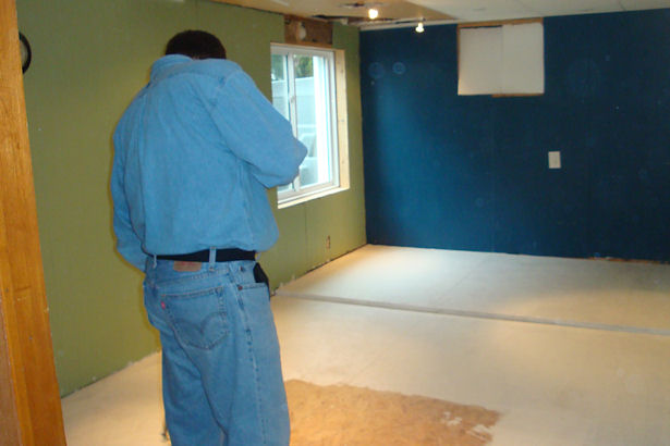 Egress Window - Priming the Floor
