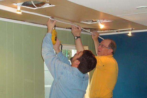 Egress Window - Replacing the Ceiling Tiles