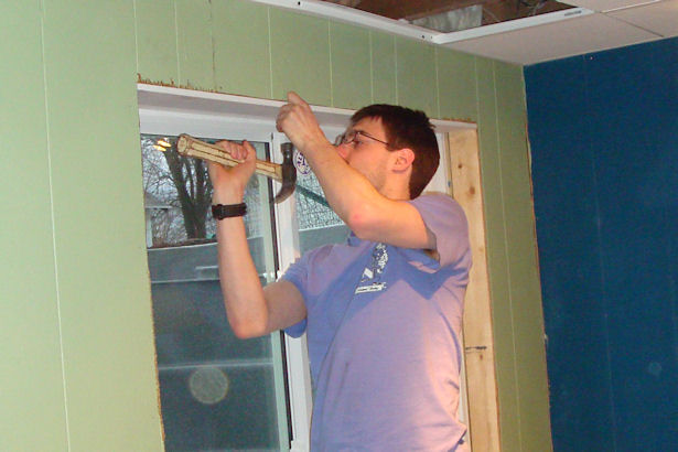 Egress Window - College Boy Hammering